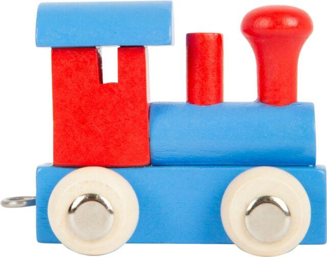 Legler small foot design Buchstabenzug Lokomotive rot /& blau 10349