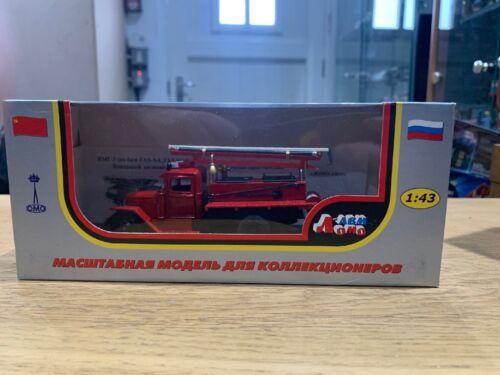 LOMO AVM 1:43 ZIS PMZ fire truck red USSR RUSSIA die cast ladder GAZ