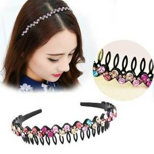 Women-039-s-Flower-Crystal-Hairband-Headband-Rhinestone-Hair-Bands-Hoop-Accessories