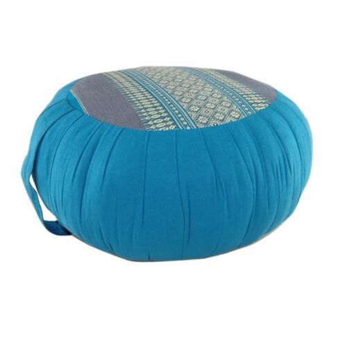 Blue DM22 Zafu Meditation//Yoga Cushion with Carrying Handle