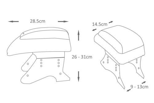 Universal Auto Armlehne Mitte Konsole für Toyota Corolla Celica Aygo