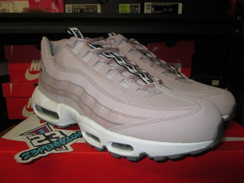 SALE NIKE AIR MAX 95 SE PULL TAB PARTICLE pink BLACK WHITE AQ4129 600 NEW PINK