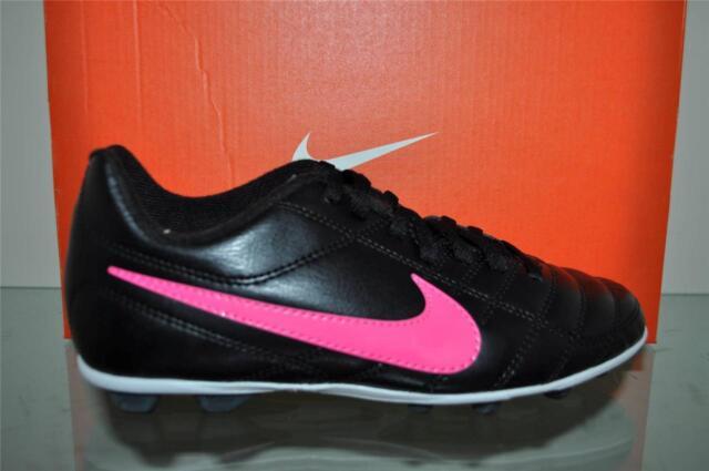34920fd2f Nike Jr Chaser FG-R 599072 006 Kids Girls Soccer Cleats Size 2y Black