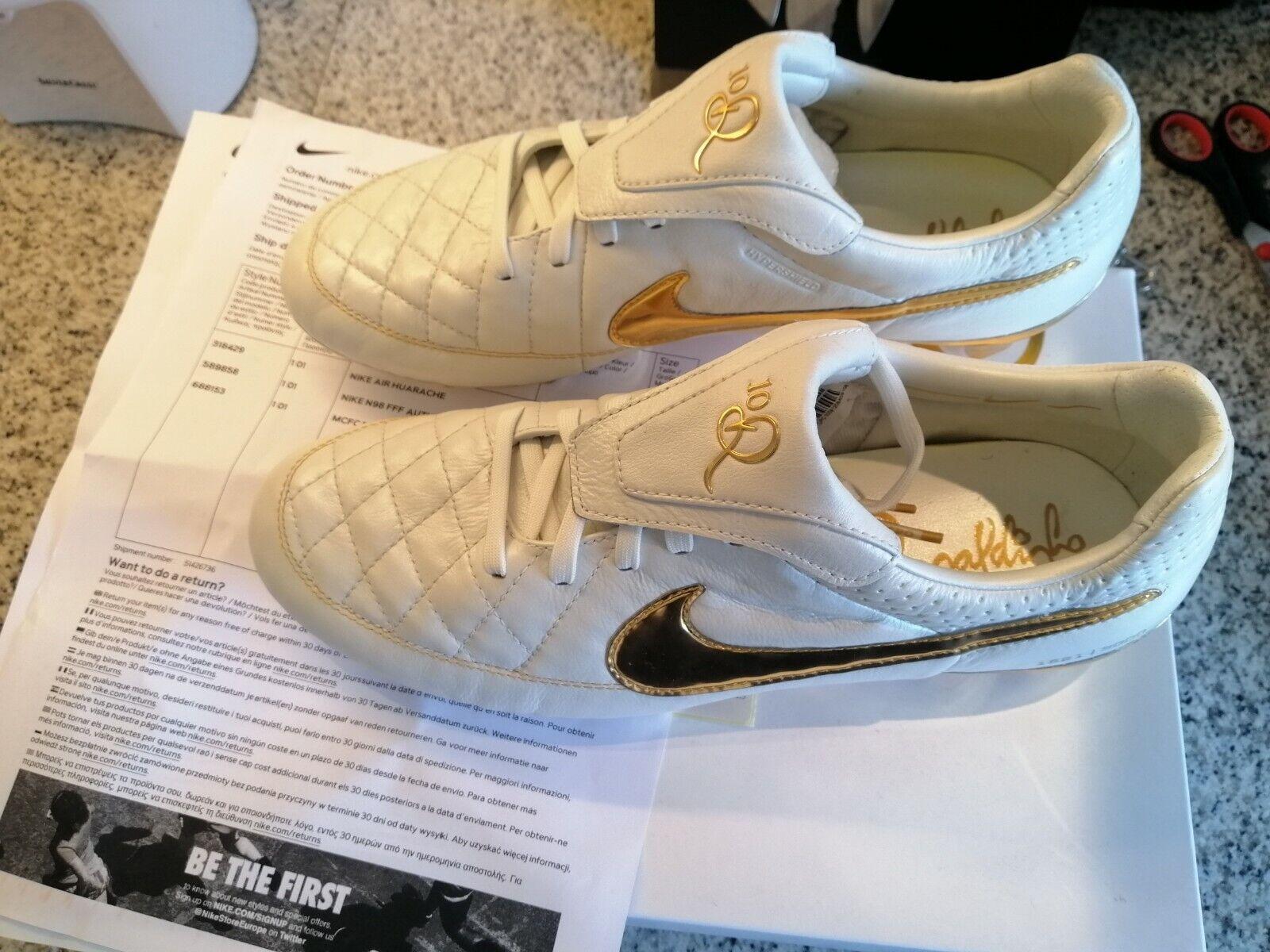 Nike Tiempo Legend V PREM FG R10 RonaldinhoTOUCH OF oro Talla US 8