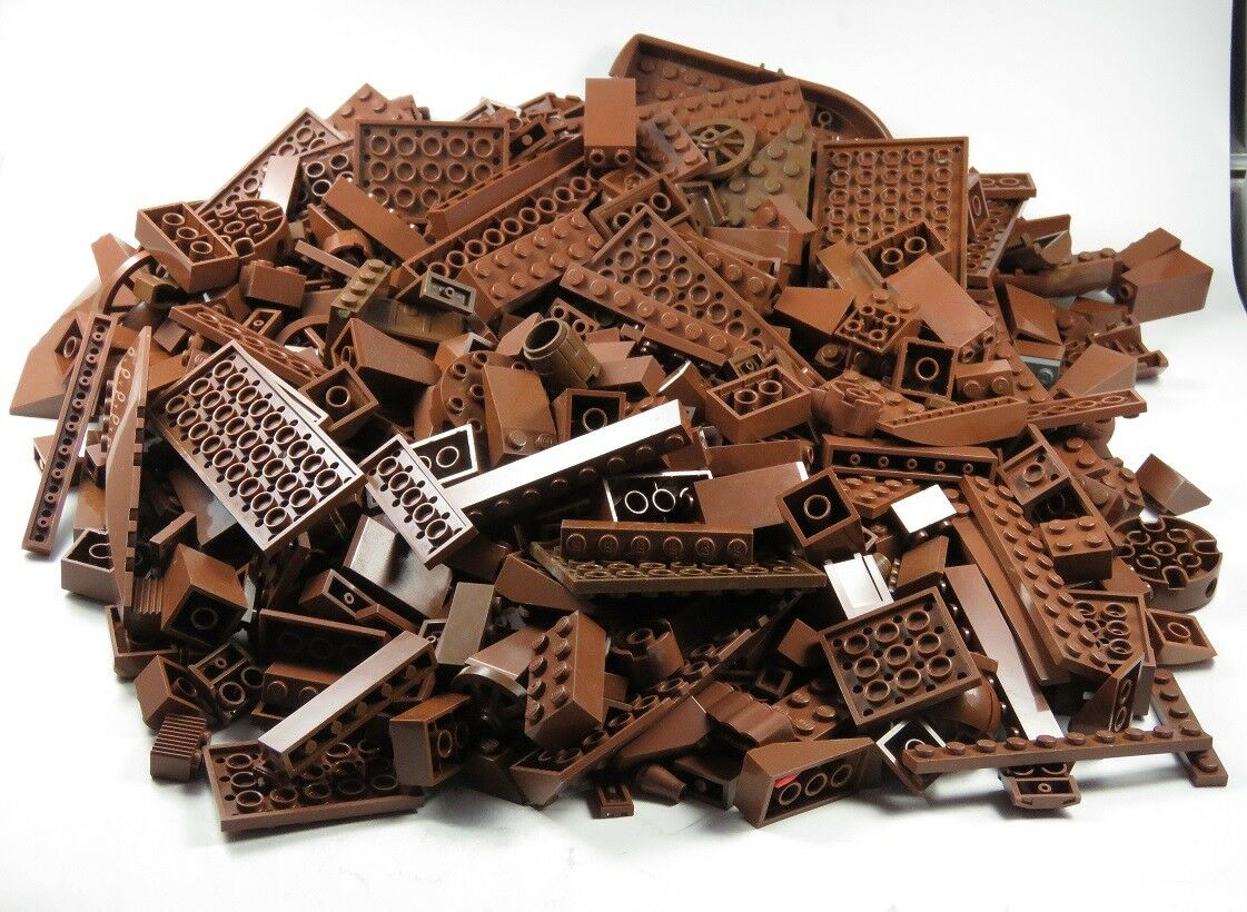 Lego post Stones Chocolate Brown Brown Column Plate Knight Castle Pirate Ship