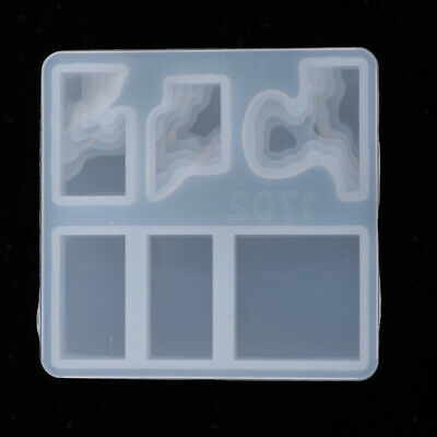 Island Rectangle DIY Jewelry Making Silicone Mold Resin Art Mould Tool