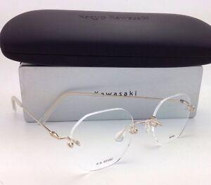 b7145018506c KAZUO KAWASAKI Eyeglasses MP 631 02 NP 44 44-19 140 Rimless Titanium ...