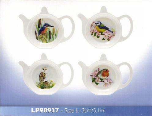 Les oiseaux britannique sac de thé de mélamine tidy Robin Hibou bluetit