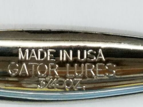 Réduction de 2 ou plus made in U.S.A 1 Gator Cuillère Metal Lure Chrome Plain 3//4oz