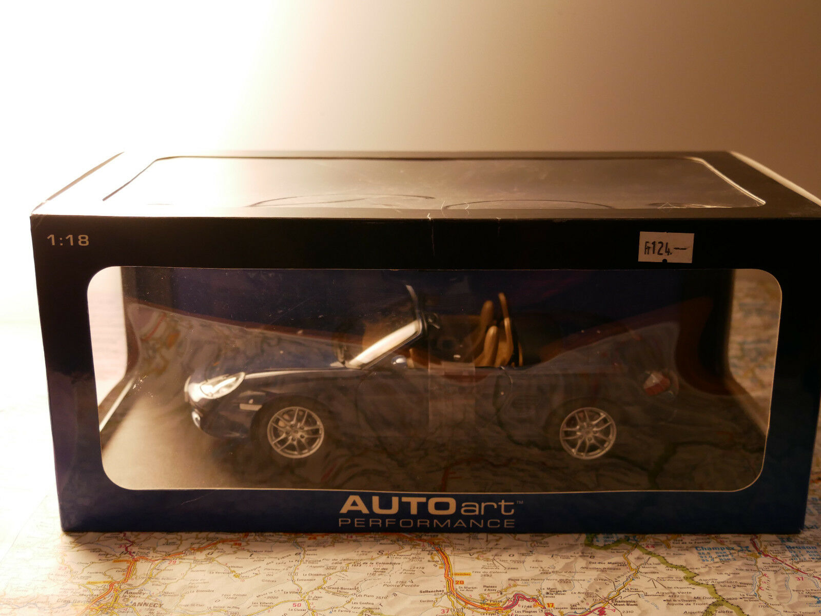 AUTOART PORSCHE BOXSTER S bleu 986 CABRIO FACELIFT ART.77881  1 18  NEW