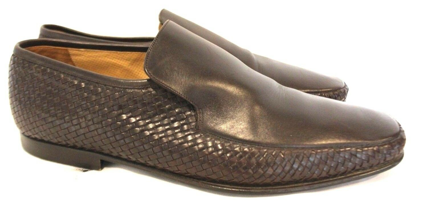 BALLY Mens Slip-On Quilted Leather Business Loafers shoes Sz 10.5 US 9.5EU