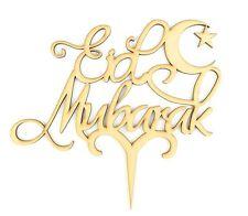Laser Cut 'Eid Mubarak' Cake Topper