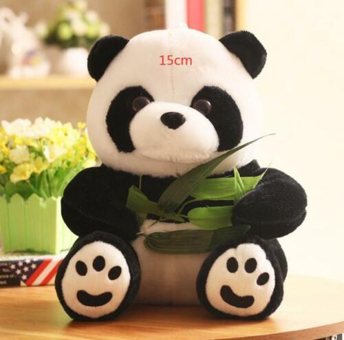 2Pcs 9cm Panda Bear Standing Stuffed Animal Baby Plush Toys Cute Keychain Gift