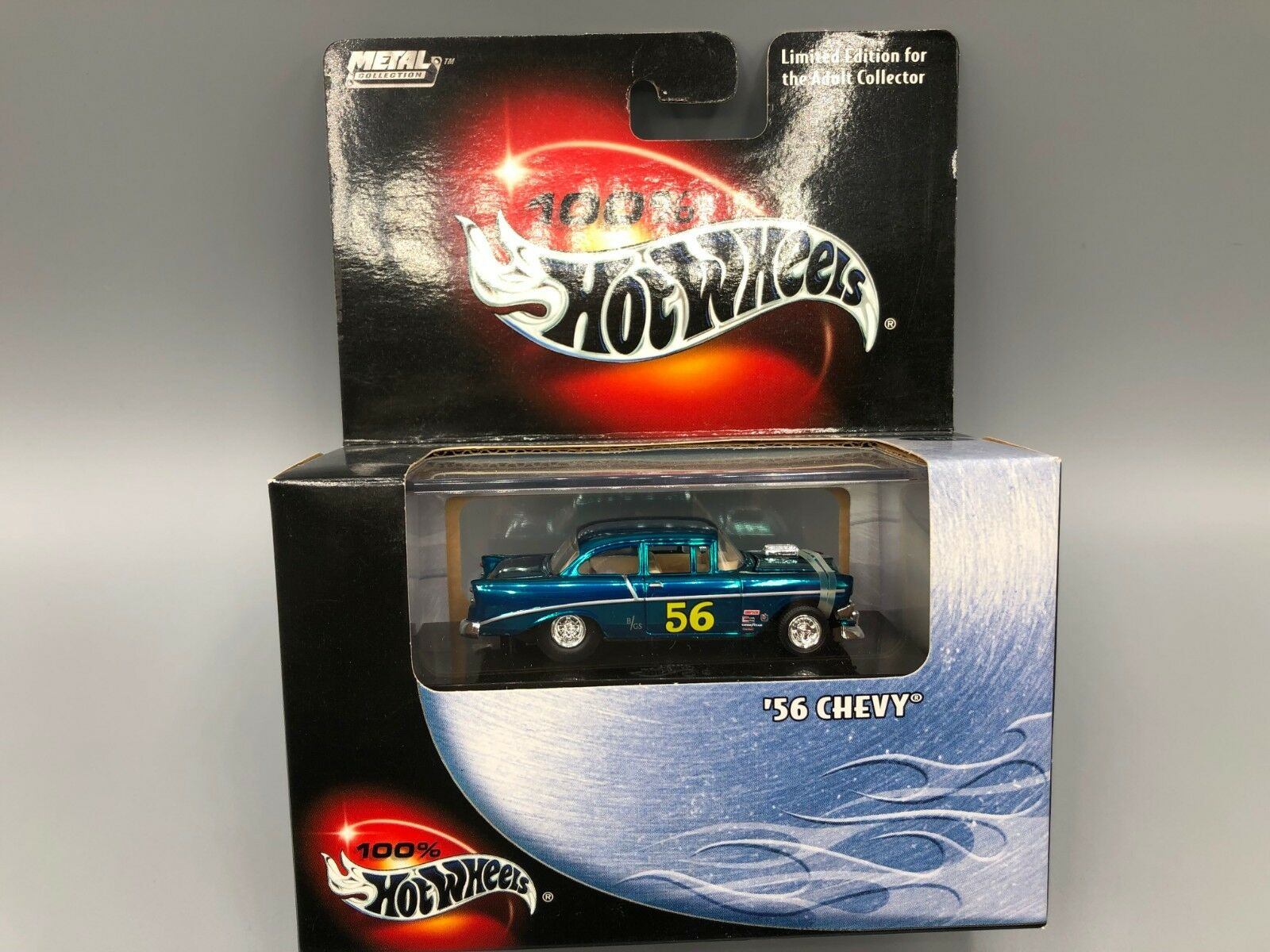 edizione limitata a caldo Caliente Ruedas Metal Collection 56 Chevy Spectraflame blu blu blu VHTF  spedizione gratuita!