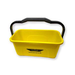 Bucket, Rectangular, Yellow Plastic, 3-Gallon -86000