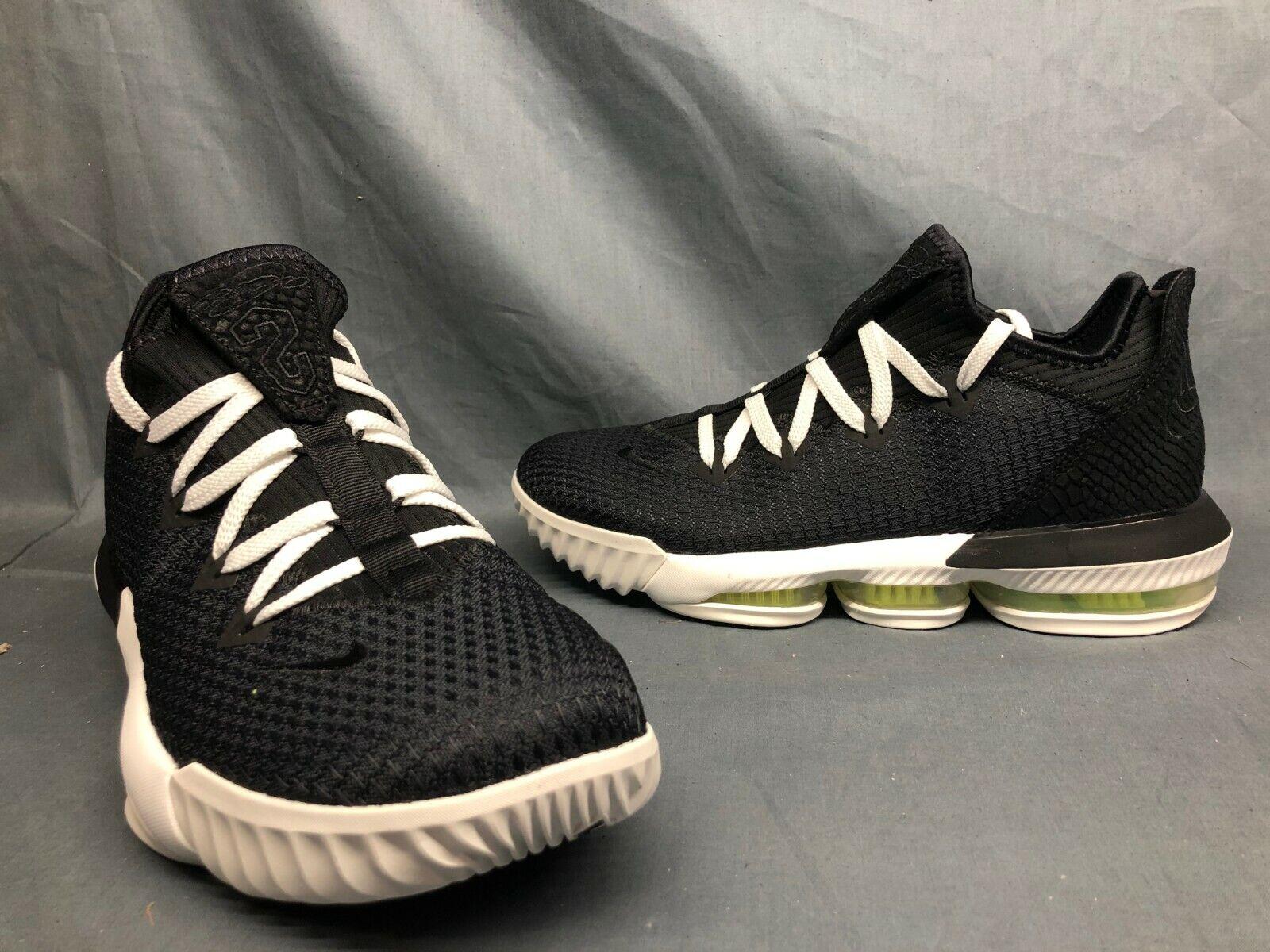 Nike Lebron XVI Basketball Shoes for Men, Size 10 - Black/Black-Summit  White-Volt