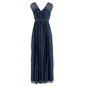 Vila kleid lang blau