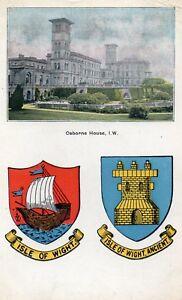 Osborne-House-ISLE-OF-WIGHT-1907-Original-Postcard-GRN