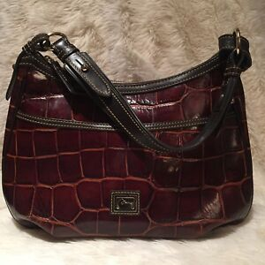 Image Is Loading Rare Dooney Amp Bourke Embossed Leather Croc Red