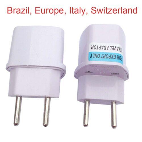 Universal Travel Power Plug Adapter TO EU ITALY SWITZERLAND Brazil europe/_gm