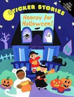Glow in Dark Hooray for Halloween Sticker Story picture book kids