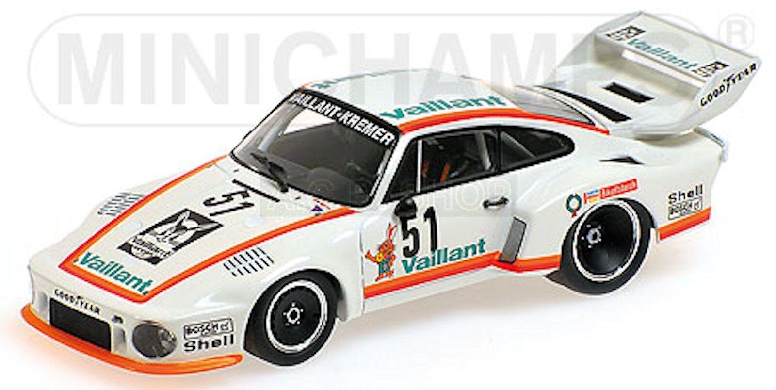 Porsche 935 Drm 1977 Zolder Bob Wollek  51 Vaillant 1 Blanc  43 Minichamps