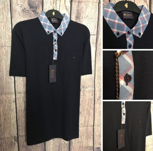 Gabicci Patterned Jersey Shirt BNWT Navy Design Size Medium New Season