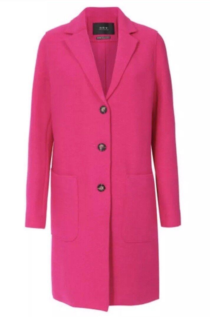 Hot Pink Virgin Wool Coat Size 10 BNWT