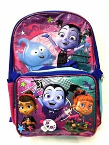 481bcebcb10 Image is loading Disney-Vampirina-School-Book-Backpack-With-Lunch-Box-