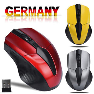 Kabellos PC Maus USB Wireless Mouse Optisch Funkmaus für Computer Laptop Deutsch