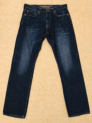 * Usato * American Eagle Outfitters Da Uomo Blu Slim Straight Jeans Taglia W34 L34-mostra Il Titolo Originale Una Gamma Completa Di Specifiche