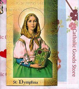 Details About Saint St Dymphna Biography Prayer Feast Day Etc Folder Card