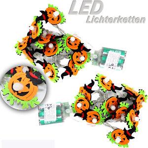 2-x-LED-LICHTERKETTE-FILZ-Halloween-Herbst-DEKO-Timer-20-Lichter-Warm-ue5ue729
