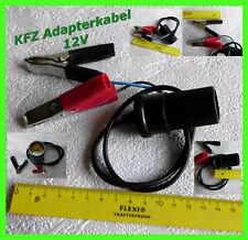 Adapterkabel KFZ Stecker Batterie Ladegerät Batteriekabel Batterieklemmen