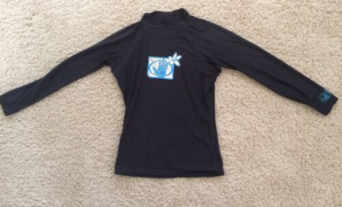 Body Glove Women's Long Sleeved Rash Guard Dark Blue Sz Medium UVP 50