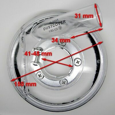 """5"""" Vacuum Clear Dust Shroud Cover for 3.5""""-5"""" Angle Hand Grinder Polisher B-100A"""