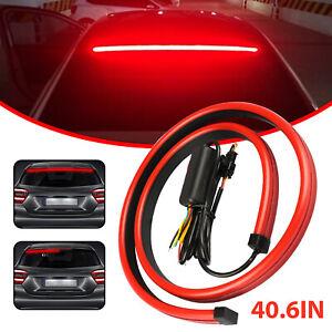 40inch Car LED Rear 3rd Stop Brake Strip Light Signal Lamp Driving Warning Turn