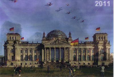 3 -D - Wackelkarte: Berlin- Reichstag zerstört 1945 und Sitz des Bundestags 2011