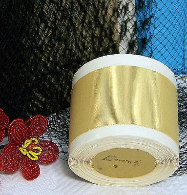 "BTY Vintage 2.0/"" Lt Gold Cotton Silk Grosgrain Ribbon Petersham Hat Millinery"
