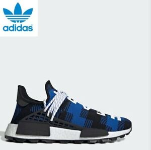 online store 787f9 43bb3 Details about Adidas BBC x NMD Hu Pharrell Blue Plaid Shoes, Sneakers  EF7387 Men's