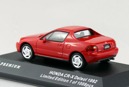HONDA CR-X del sol ROSSO 1992 1:43 Triple 9 10020 modello di auto