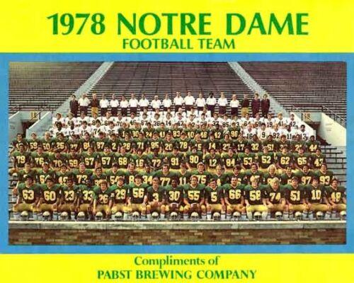 1978 NOTRE DAME IRISH FOOTBALL 8x10 TEAM PHOTO MONTANA