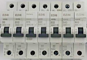 16A MEM//Eaton Memera 2000 ALB Single Pole MCB  50A 32A 20A 6A Type B//C