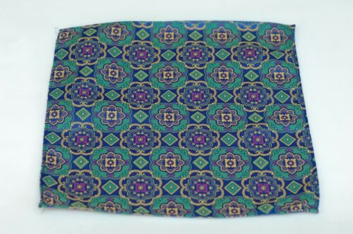 Sao Paolo Azul Silk Lord R Colton Masterworks Pocket Square $75 Retail New