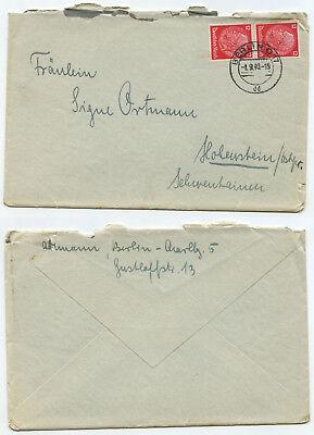 10498 - Beleg - Berlin 1.9.1940 Nach Hohenstein Ostpreußen Lassen Sie Unsere Waren In Die Welt Gehen