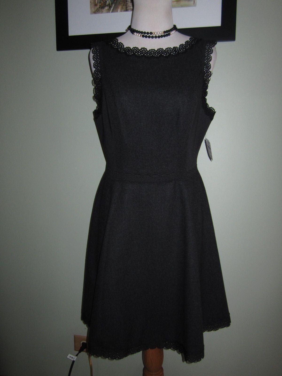 Susana Monaco Sleeveless Grey Grey Grey Onyx Wool Fit nd Flare Dress Size 8 9e49e3