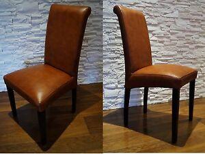 Italienische Leder Stuhle Esszimmer Echtleder Stuhl Lederstuhle