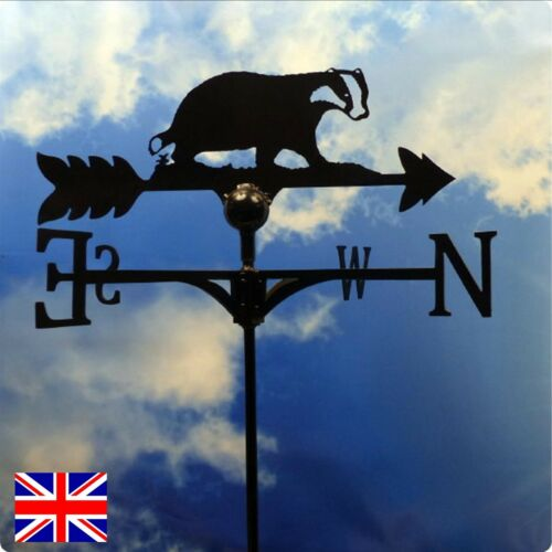 High Quality British Made Badger Weathervanes in 2 Sizes /& Finishes 69