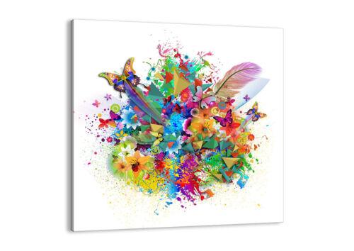 CUADROS LIENZO foto Impresión Butterflys colorido 30 FORMAS ES 2840