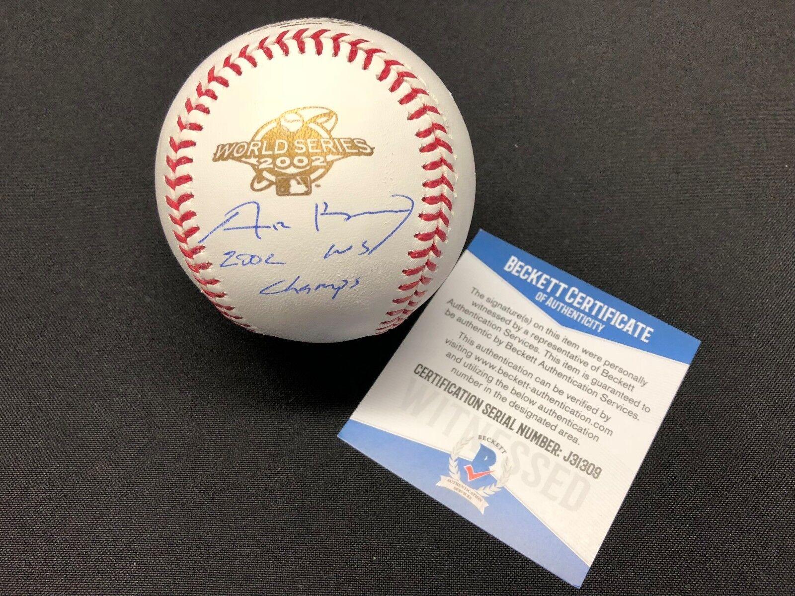 Adam Kennedy Signed 2002 World Series Baseball WSMLB